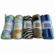 Printed polar fleece blanket from China (mainland)