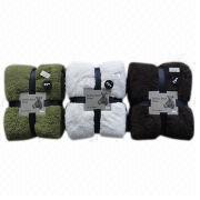 Solid Microfiber Sherpa Fleece Blankets Manufacturer