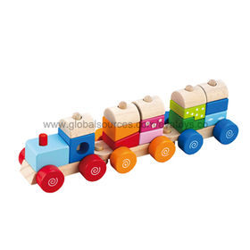 Wooden pull and push train toy Manufacturer
