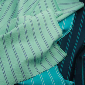 Feeder Striped Pique Fabric, Made of 94% Poly and 6% Spandex with UV-cut, Wicking and Anti-bacterial from Lee Yaw Textile Co Ltd