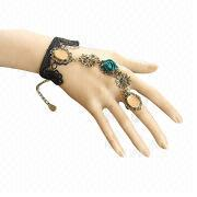 Gothic Black Lace Charm Bracelet from China (mainland)