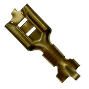 Connector Terminal, Made of Copper brass Material/By Stamping Machines/OEM/ODM Orders are Welcome