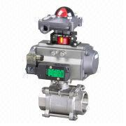 Pneumatic 3-piece Hole Thread Ball Valve from China (mainland)