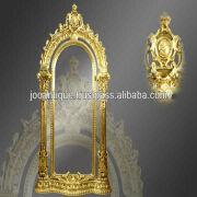 Large Gold Wall Mirror large antique carved gold gilt wall mirror style french antique