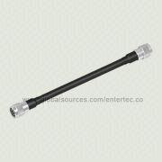 Mini F Cable with LMR-600 RF Coaxial Cable to Mini F N (M) S/T Plug Both End from EnterTec Technology Inc.