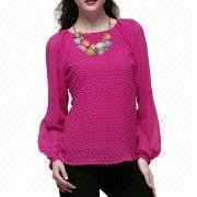 Long Sleeve Women's Blouse from China (mainland)