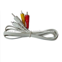 China Flexible Frosted 3 RCA to 3 RCA Cable