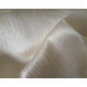Crepe satin/crinkle satin/100% silk fabric from China (mainland)