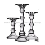 Glass Candle Holder, Special Designed in Dual-use for Pillar Candle or Taper Candle from U&Me Elegance Houseware Manufacturing Co. Ltd