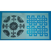 China Eco-friendly letter font PP plastic wall drawing stencils and templates for children