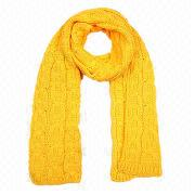 Acrylic Knitted Scarf, Customized Colors, Materials and Sizes are Accepted, OEM Orders are Welcome