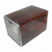Watch Winder with Anodizing Redwood/Piano Finish, Single Rotor Series