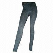 Women's polyester/elastane seamless cropped legging pants from China (mainland)
