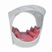 Rattan/wicker round sofa, various colors are available