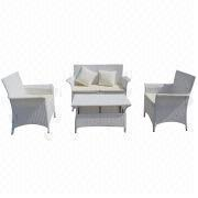 2014 promotional 4-piece rattan/wicker sofa set from China (mainland)
