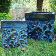 Glazed Outdoor Ceramic Pot from Vietnam