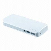 Power Bank, 13,000mAh Capacity, 5V DC/2A Input, 5V DC/1A Output 1, 5V DC/2A Output 2 from Shenzhen BAK Technology Co. Ltd