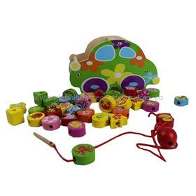 Kid's DIY wooden beads toy