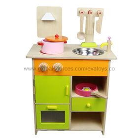 Kid's Wooden Pretend Kitchen Toy Manufacturer
