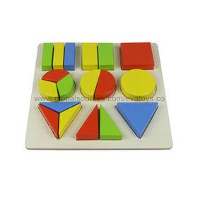 Wooden geometric blocks puzzle Manufacturer