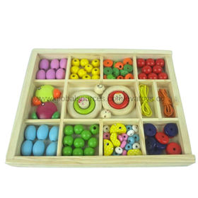 Kid's DIY wooden beads toy from China (mainland)