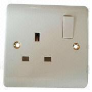 Power outlet at 13A UK series switch socket from China (mainland)
