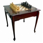 Taiwan 32 Inch Chess Set Table With Styled Legs