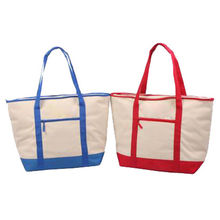 Cooler tote bag, one large main compartment