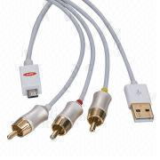 MHL to AV adapter, charge mobile via USB port/5V DC while using AV cable