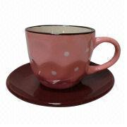 Graceful Pink Ceramic Cup from China (mainland)