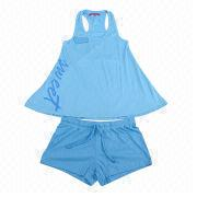 100% cotton material women's pajamas from China (mainland)