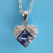 92.5 Sterling Silver Austria Crystal Jewelry, OEM Orders are Welcome