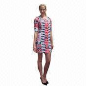 Women's Geo Printed Body Con Dress from China (mainland)