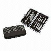 Manicure Set with Leather Case, All Stainless Steel High Quality Blade and Tools