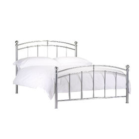 Simple cheap iron double bed for sale
