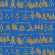 Christmas tree printed gift wrap roll from China (mainland)