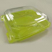 2-color PET Hinged Plastic Container from Taiwan