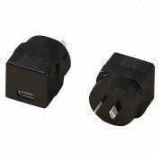 Taiwan USB AC Travel Charger for Australia, with Output of 5V/1A, 2.1A and 2.4A