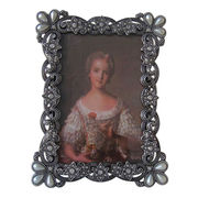Antique Pewter Jeweled Picture Frame from China (mainland)