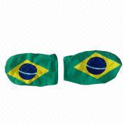 Brazil flag car mirror cover from China (mainland)