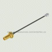 UFL Cable with SMA F S/T Bulkhead Jack to Mini UFL Solder Plug Connector/for 1.13mm RF Coaxial Cable from EnterTec Technology Inc.