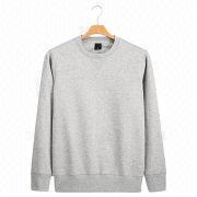 Light gray men's crew neck pullovers from China (mainland)