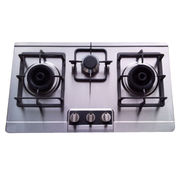 3-burner Stainless Steel Gas Hob from China (mainland)