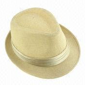 Men's hat, made of straw, comes in various colors, OEM orders are welcome