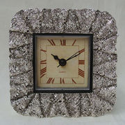 Antique Silver Metal Clock from China (mainland)