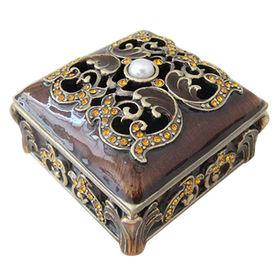 China Antique Burgundy Bronze Jewelry Box