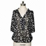 Ladies' Printed Blouse from China (mainland)