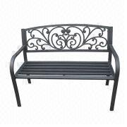50-inch steel park bench from China (mainland)