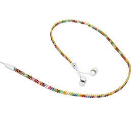 Hong Kong SAR Jewel Color Zipper Stereo Earphone, Customized Earphone Logo for Gift Premium of Mobile Phone/Tablet