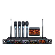 PLL and UHF CPU Control Four Wireless Microphone